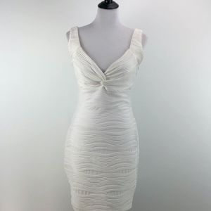 Guess White Dress Fitted Stretch Bachelorette 8